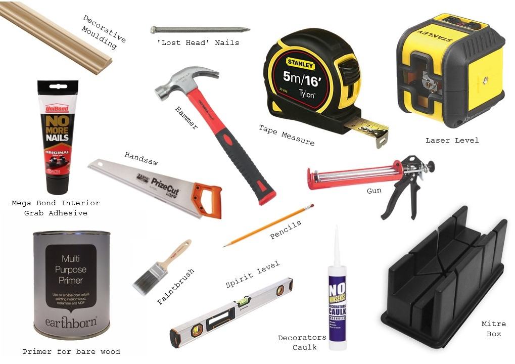 diy wall pannelling tools