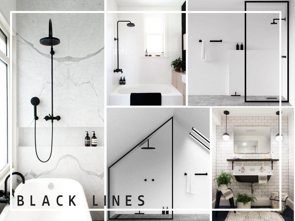 black lines in bathrooms