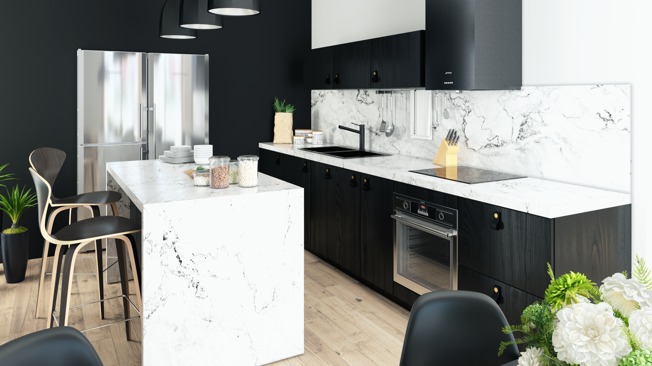 Noremax kitchen in the 'Nordic Black' range.
