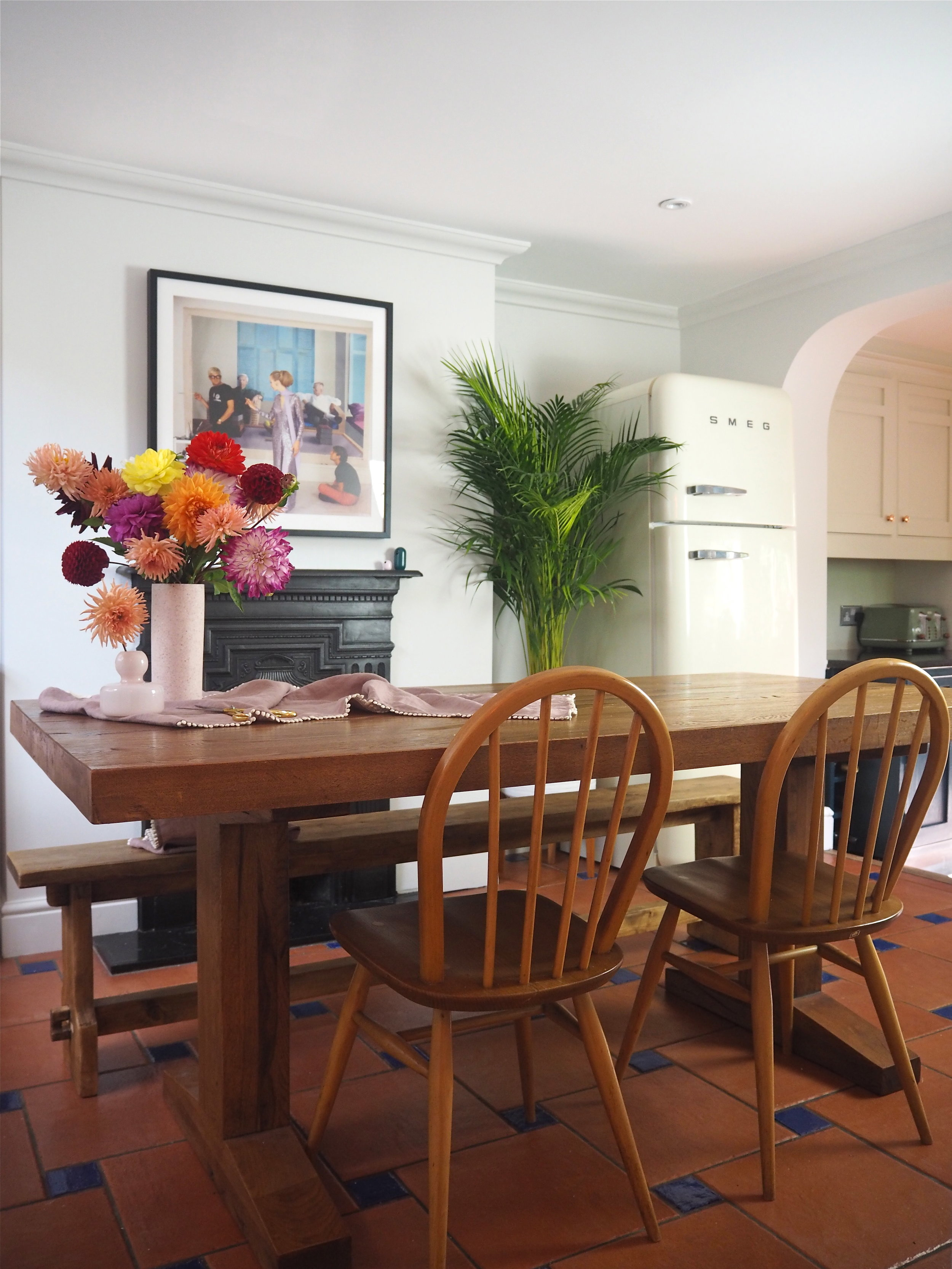 dining room painted in sanderson paint