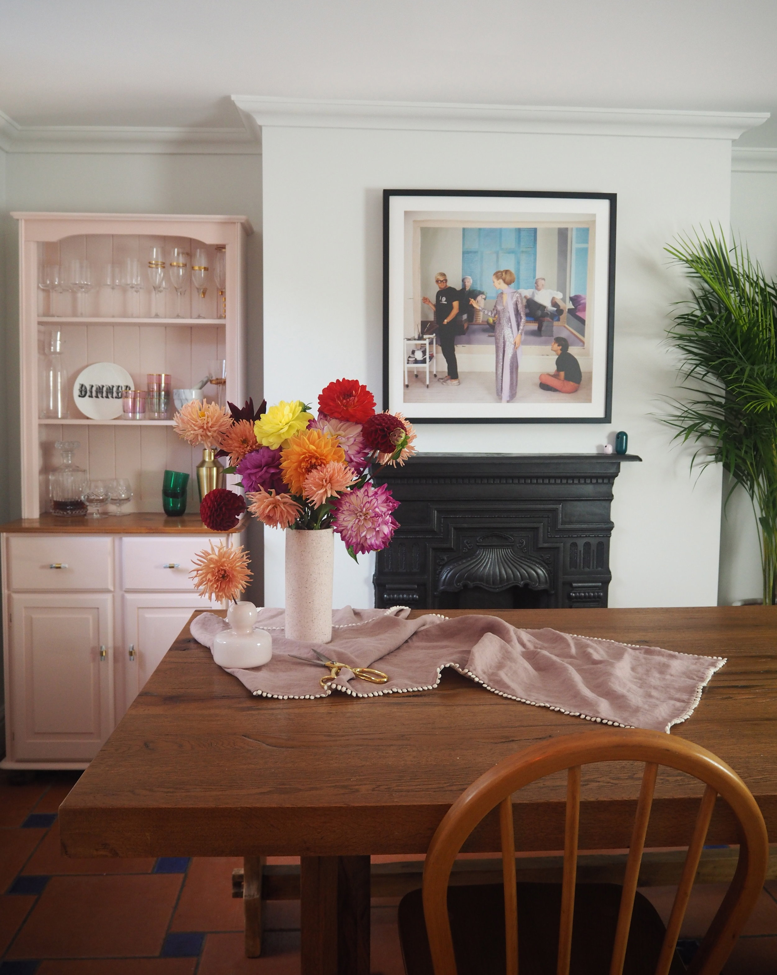 dining room decorated in sanderson paint