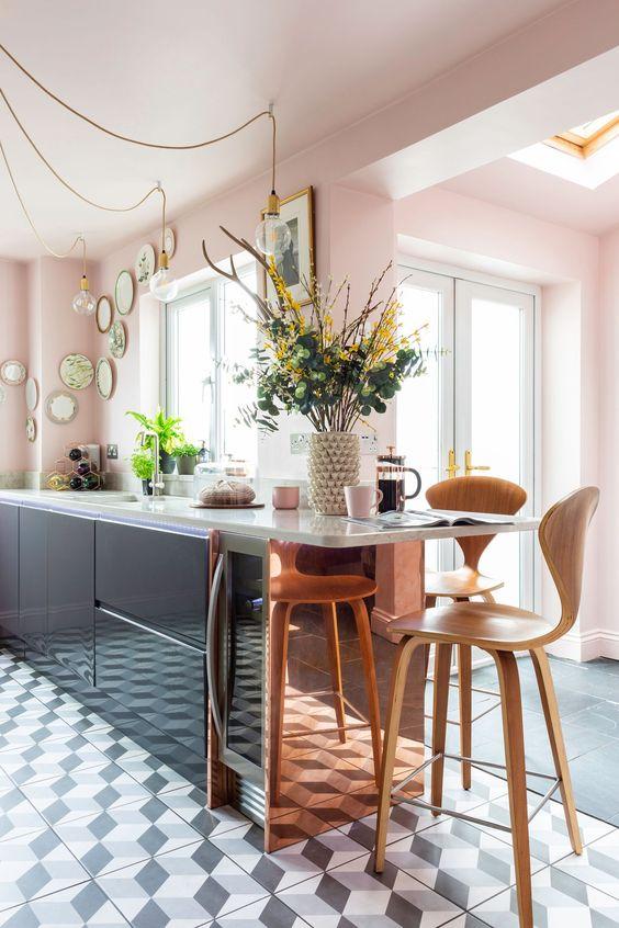This Silestone worktop belongs to @pink _ at_twentyone and won the 'Best Kitchen Transformation Award 2018' by Real Homes magazine. Photo credit: Kasia Fiszer.