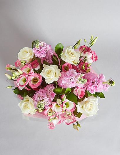 Rose & Lisianthus Gift Bag