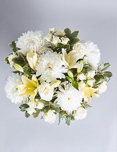 Serene White Flower Bouquet