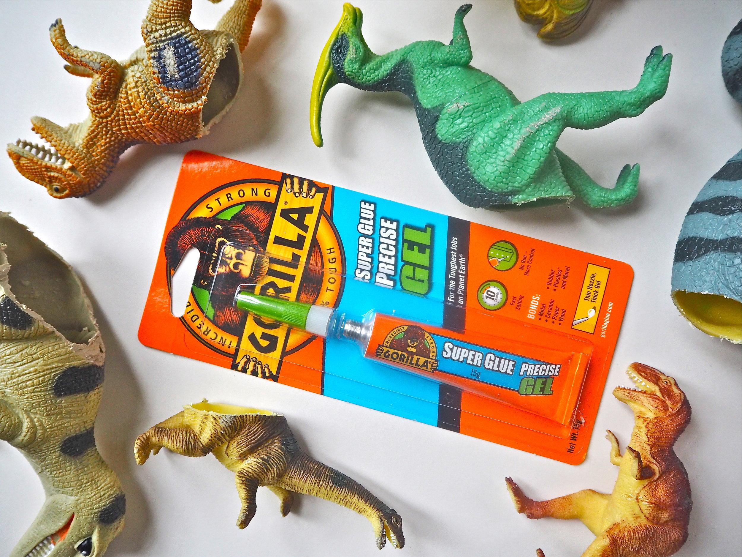DIY This 3D Dinosaur Art Gallery Wall With Gorilla Super Glue