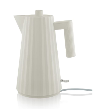 Alessi Plissé Electric Kettle - I'm a big fan of everyday items being re-designed to look a lot more chic. The new Alessi Plissé has, in my opinion, overtaken the nude coloured Stelton kettles to now become the most stylish kettle on the market. Made from thermoplastic resin, the pleats and folds give the kettle a really interesting form. I also like that the handle and the spout are all one block colour to match the body. The matt surface comes in white, black, red and grey and is priced at £79, which is cheaper than I was expecting for this designer appliance.Alessi Plissé Kettle, £79, Made In Design