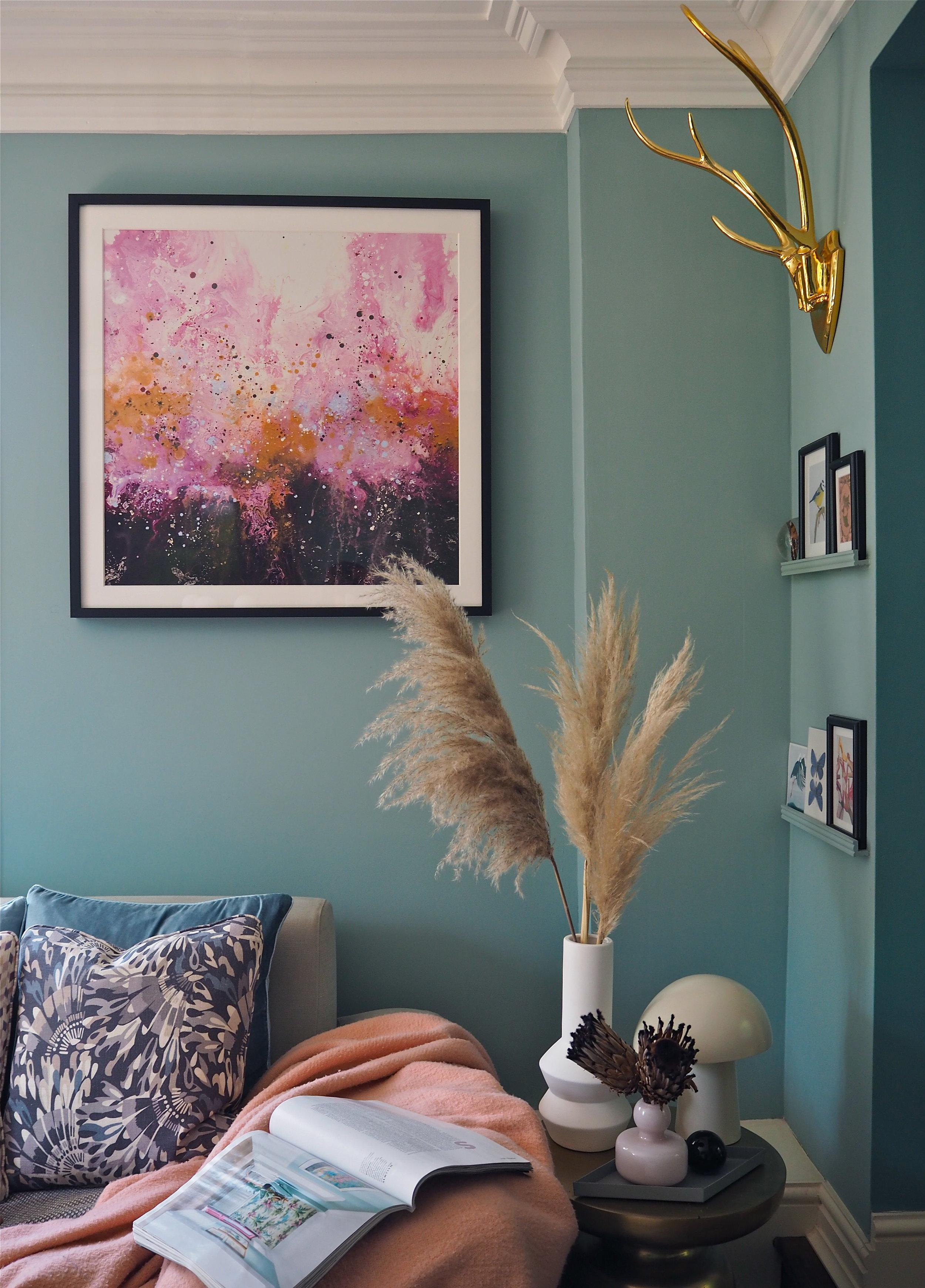 How to add colour into your home using art