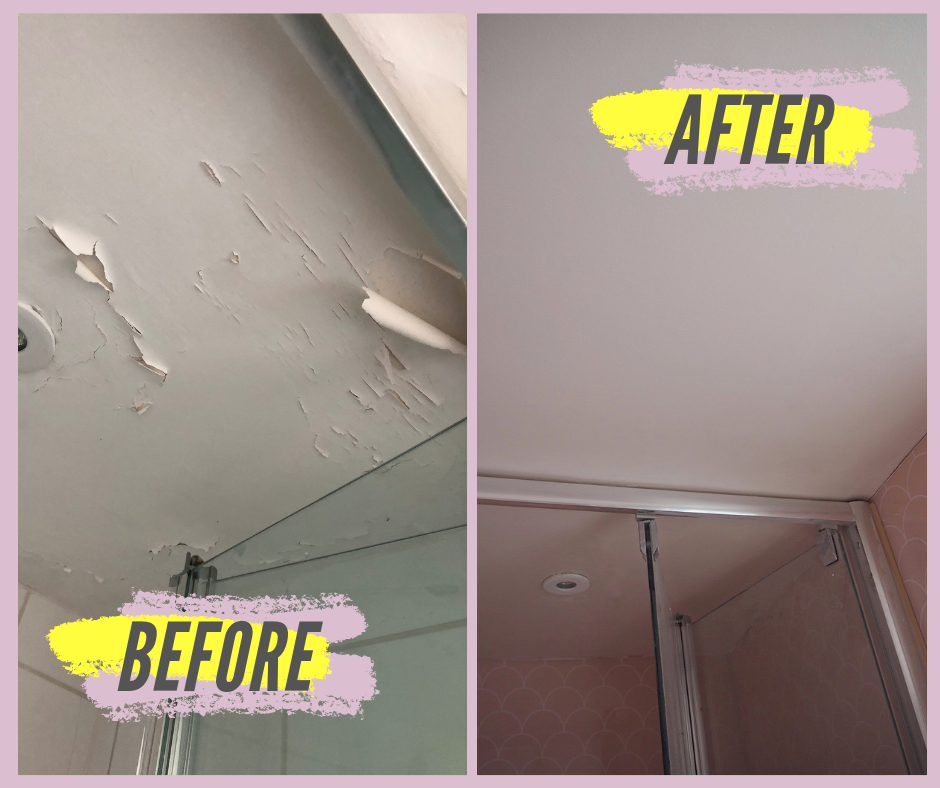 How To Repair A Ling Bathroom Wall, What Paint To Use In Bathroom Ceiling