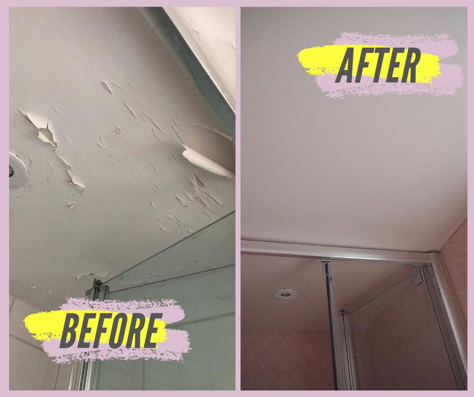 How To Repair A Ling Bathroom Wall Or Ceiling Melanie