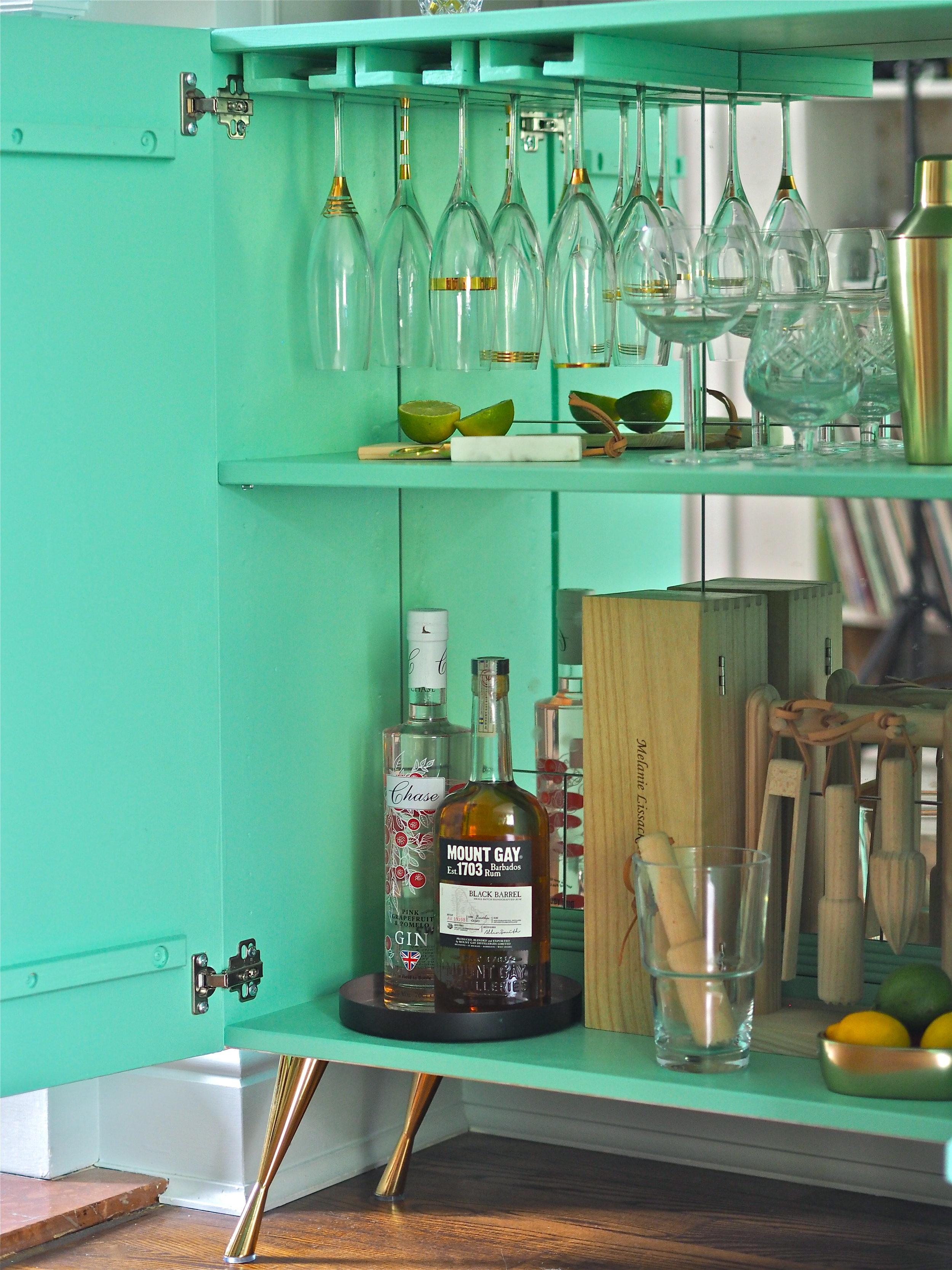 ikea hack ivar mint drinks cabinet