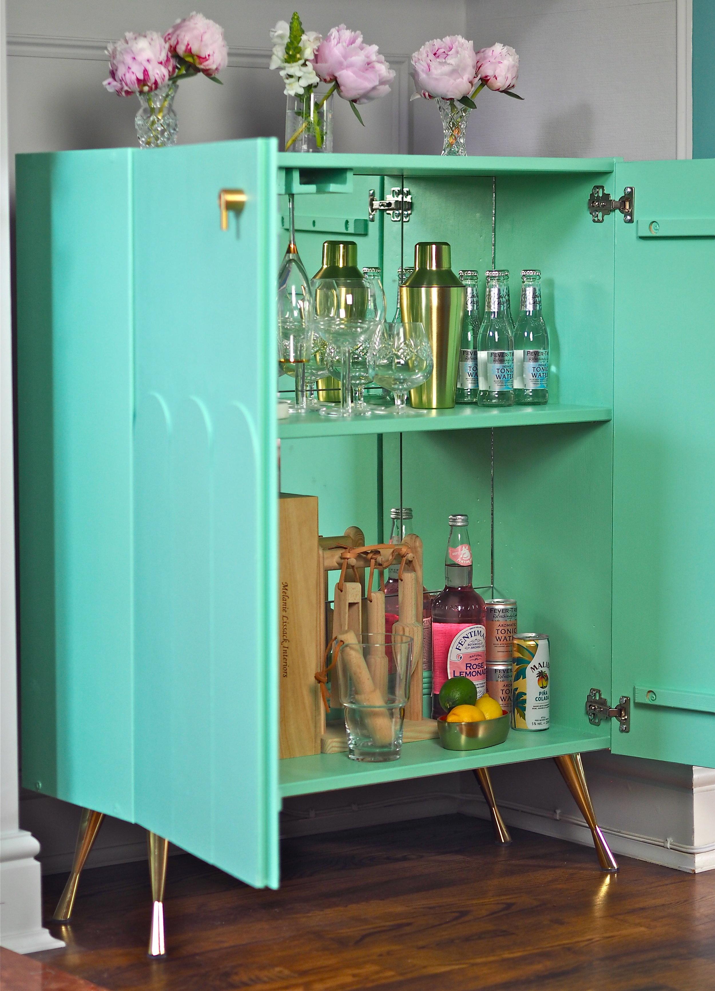 ikea hack ivar drinks cabinet diy