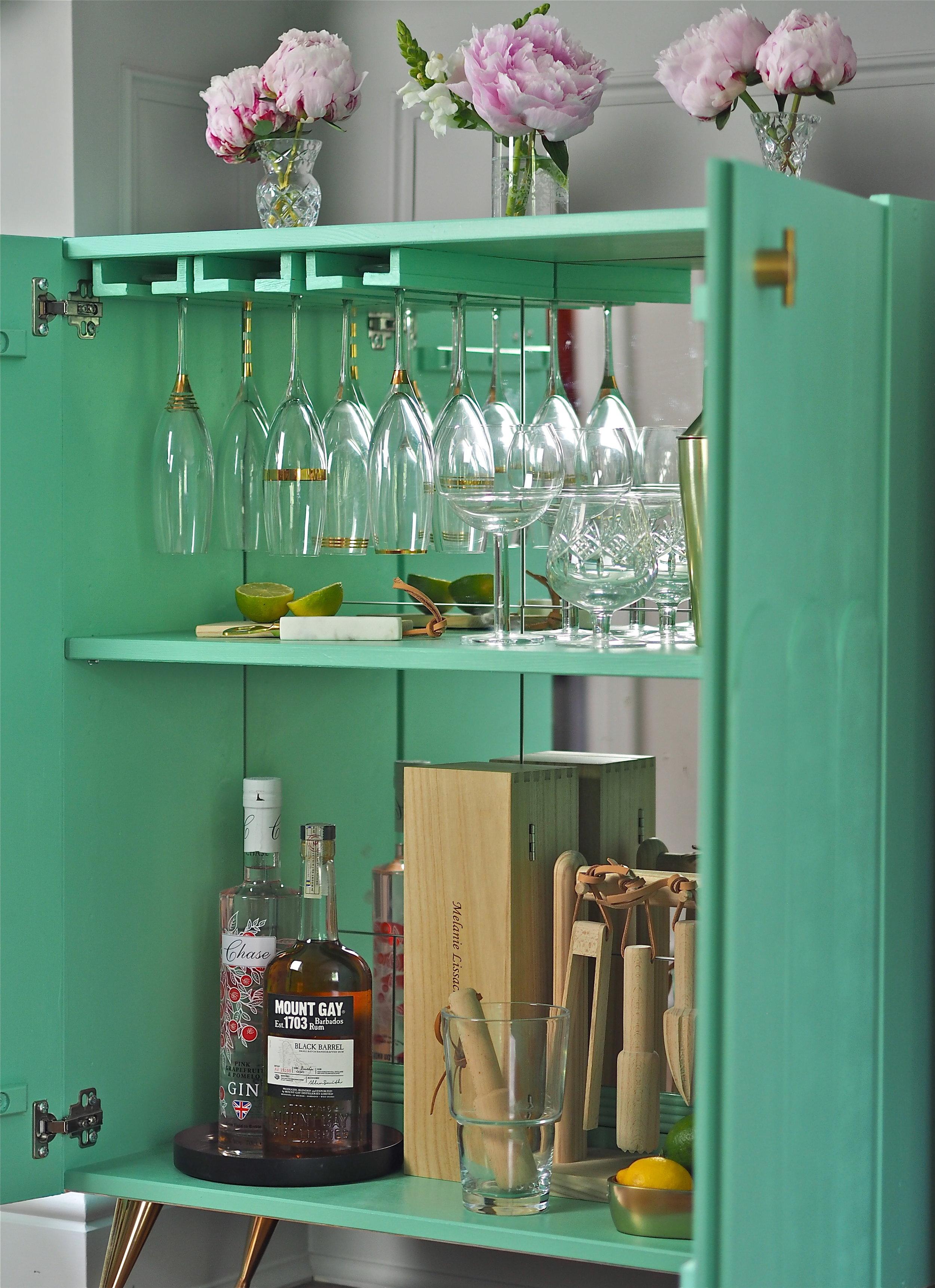 ikea ivar hack drinks cupboard