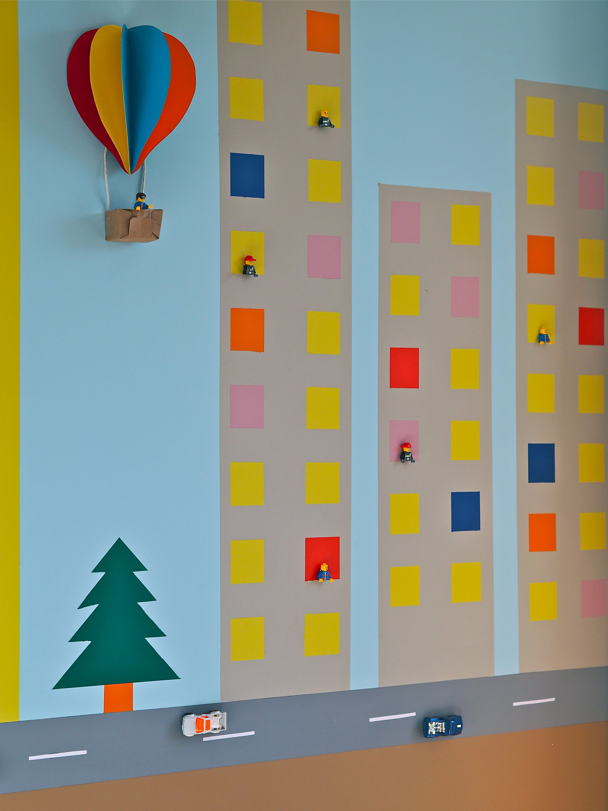 3D wall mural nursery idea