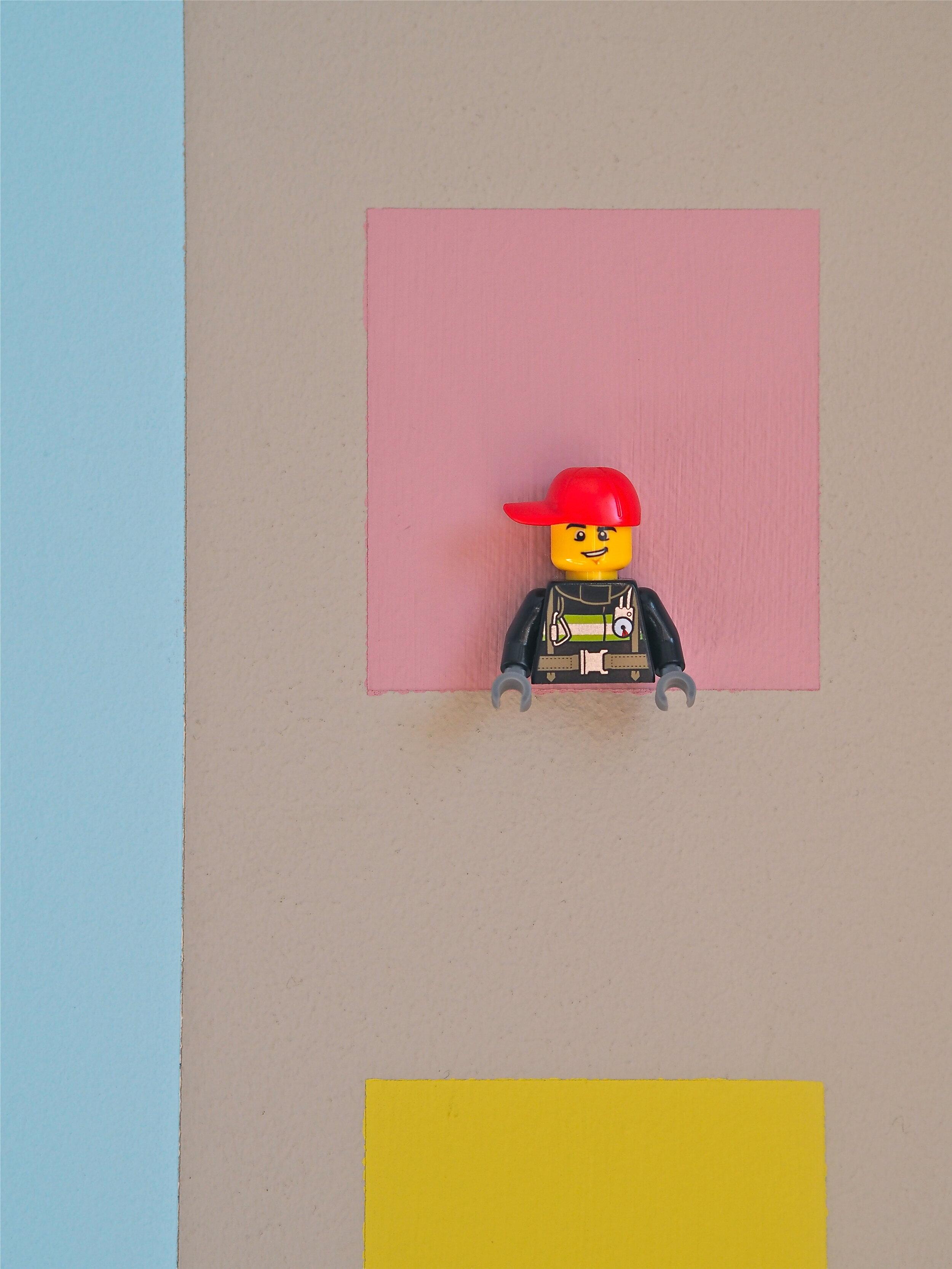 Lego figure wall mural