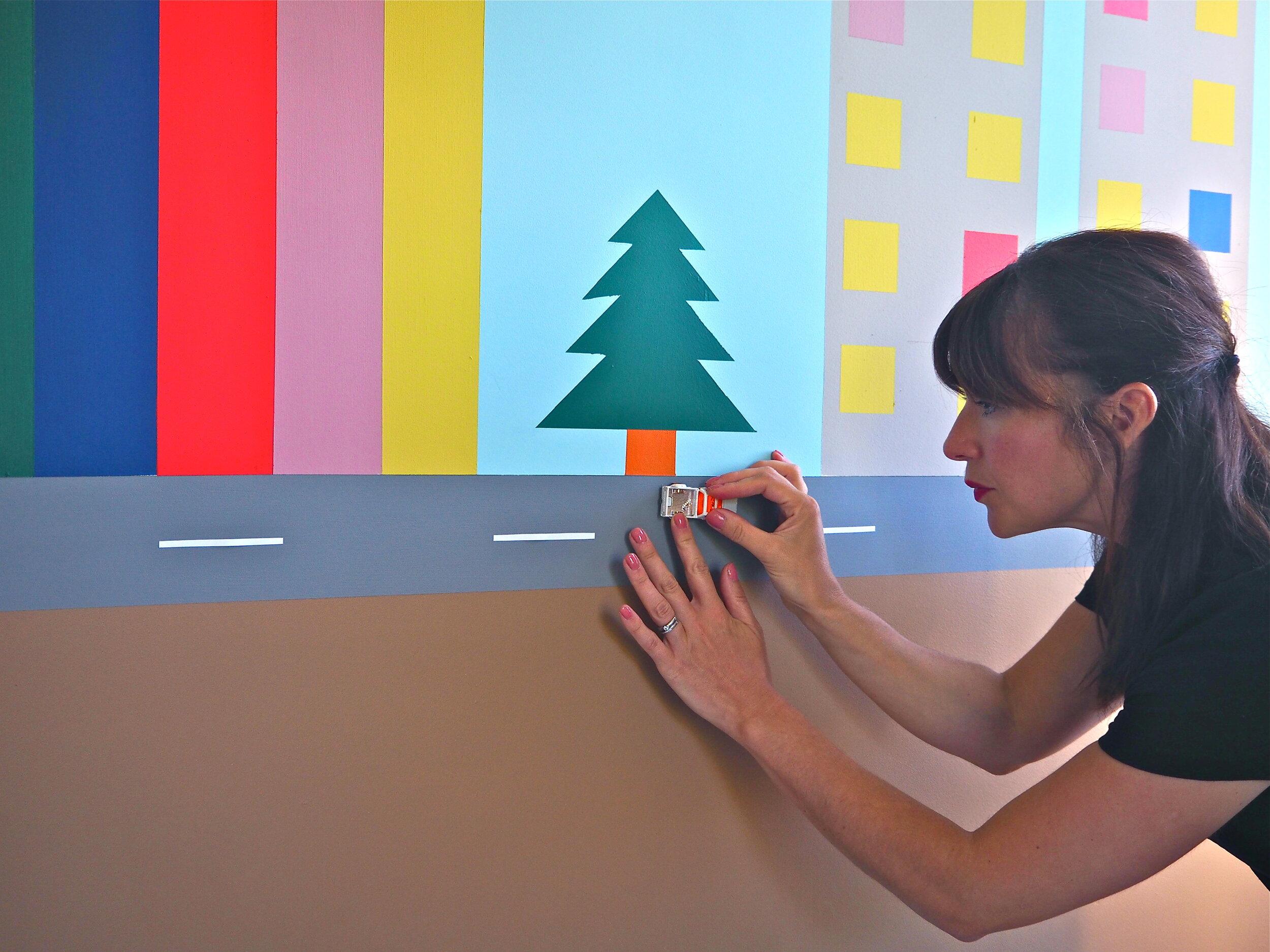 childs 3d wall mural diy