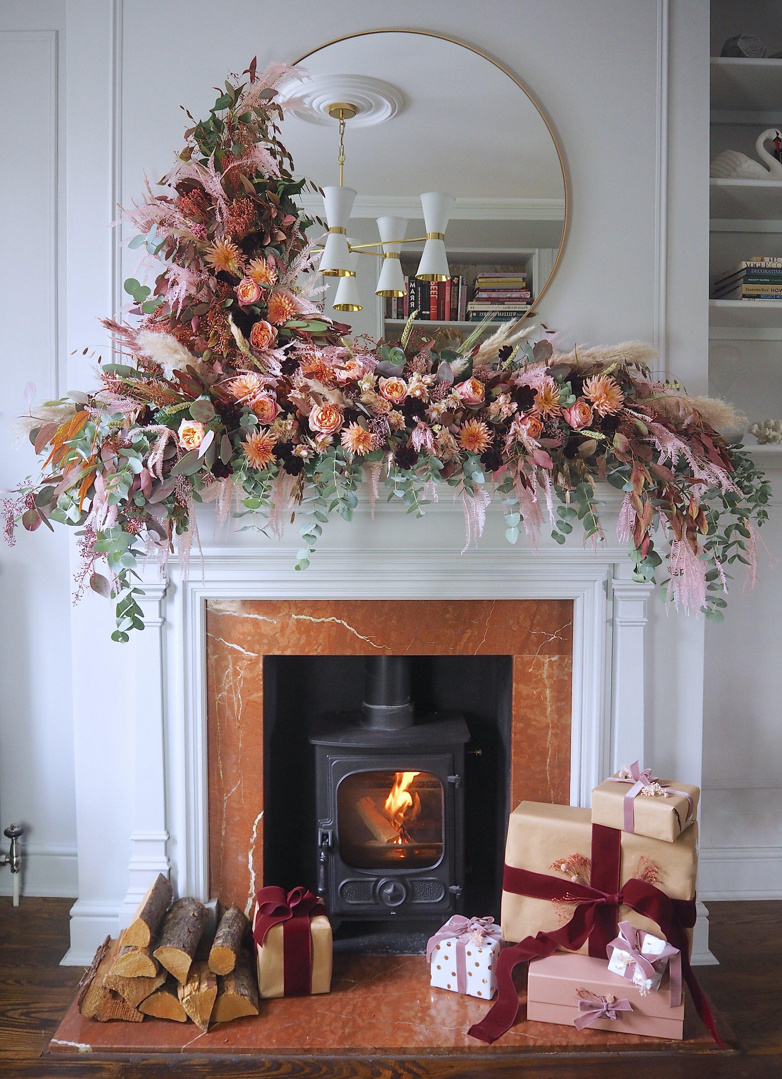Christmas Fireplace Mantel Garland Ideas Melanie Lissack Interiors