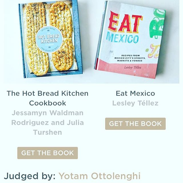 He didn't pick my book, but seeing Yotam Ottolenghi's name on the same screen as mine is pretty effing cool. #food52