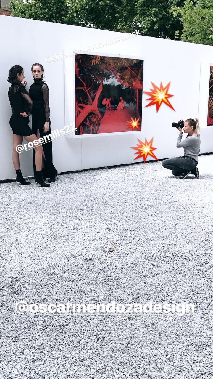 BTS du shooting avec Oscar Mendoza :D