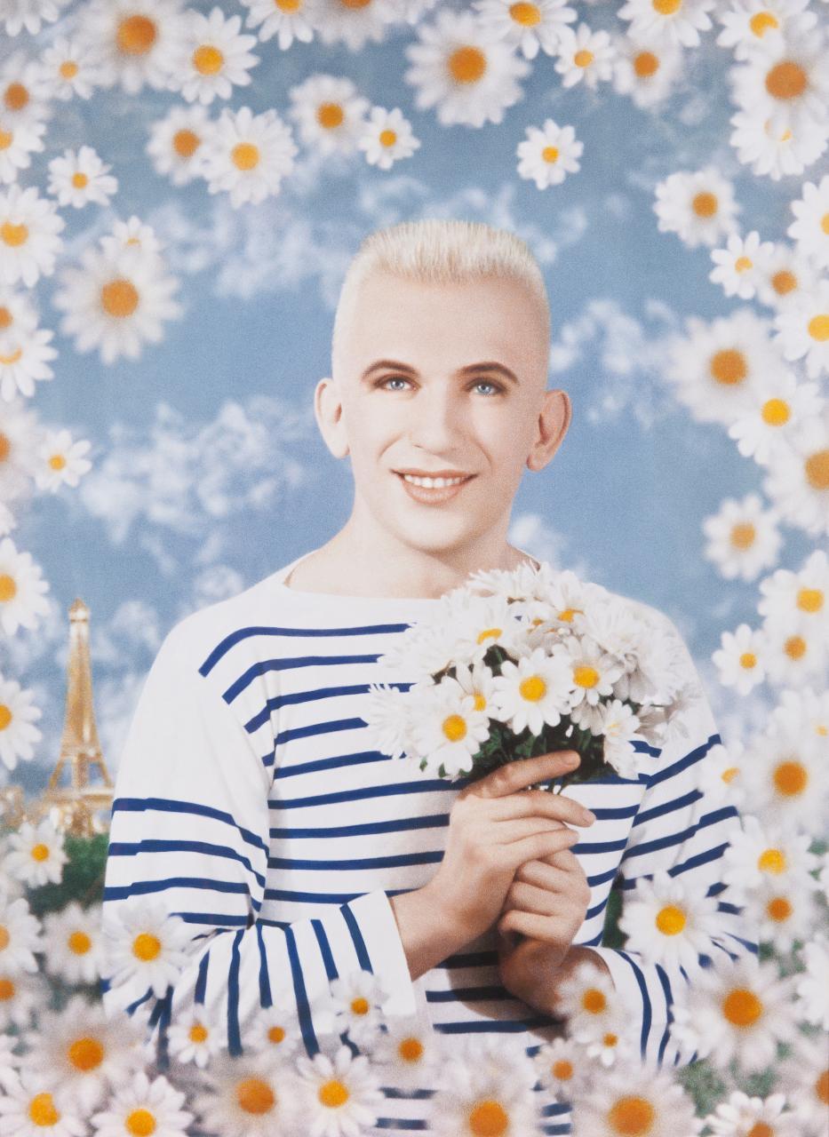Portrait photographie et peinture de Jean-Paul Gaultier par Pierre et Gilles, 1990
