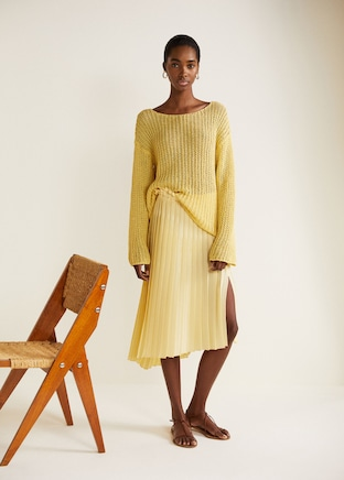 Mango jupe plissée