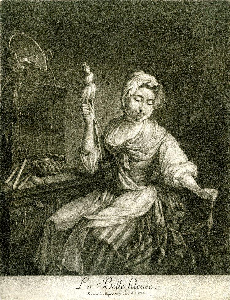 Les métiers rattachés à la confection de tissu et de vêtements ont toujours été étroitement associés aux femmes, revêtant une symbolique de vie, de reproduction, de compétence et de vertu. Les femmes de toutes les classes sociales s'adonnaient aux travaux d'aiguille et la couture avait une place privilégiée dans l'éducation des femmes. -