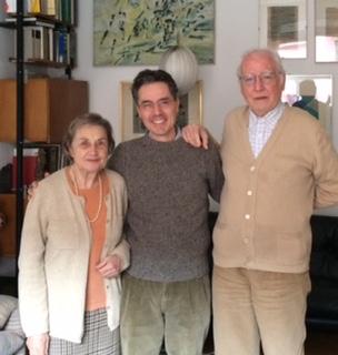 Romeo with his teacher Giacomo Manzoni and his wife Eugenia. Romeo studied 20th century music with Giacomo Manzoni, a fantastic teacher and a world known composer.