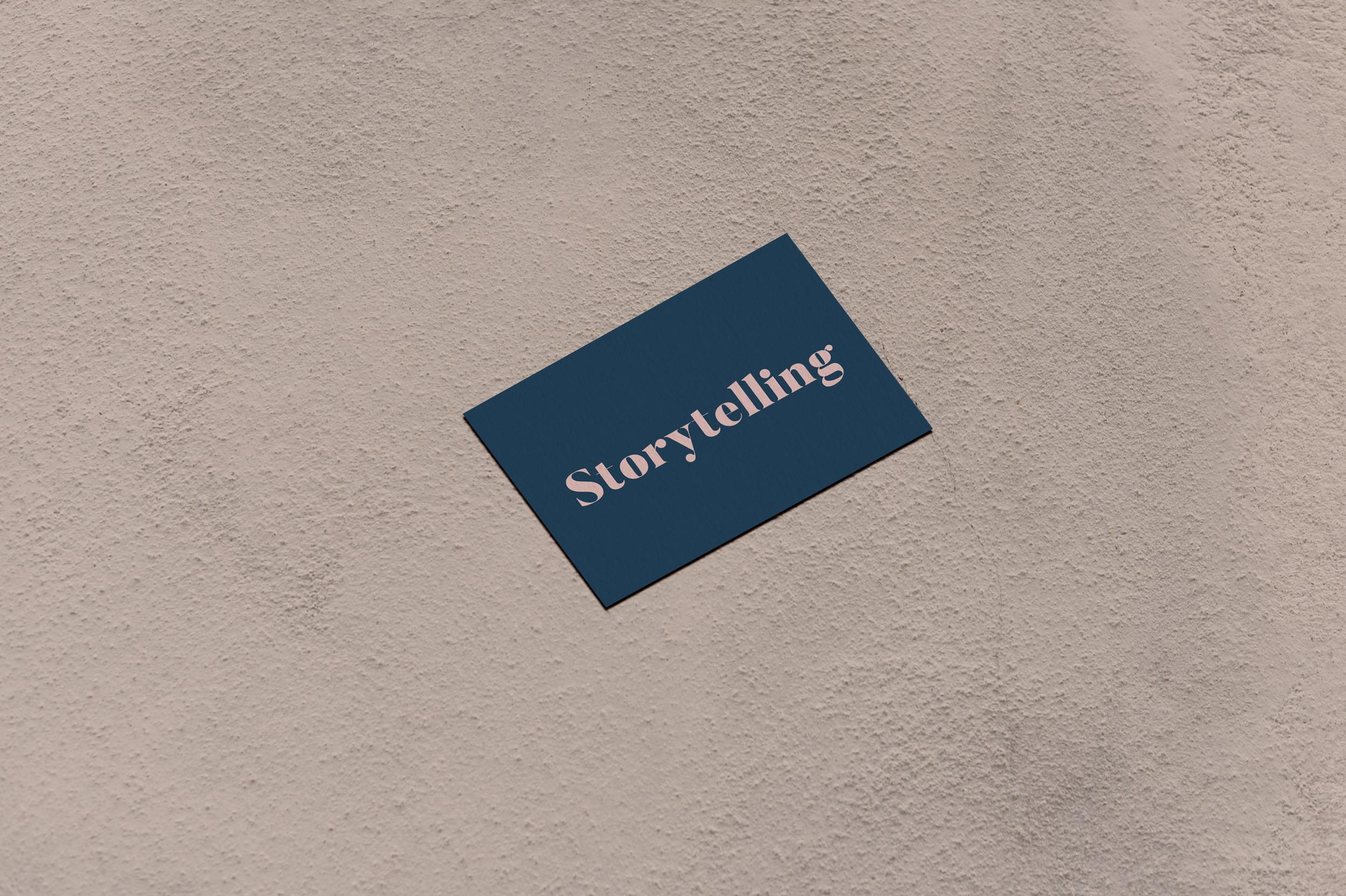 Storytelling - Verbeteren van je merkverhaal We beginnen bij een intake, daarna volgen een analyse, workshop, brainstorm en voorstel.