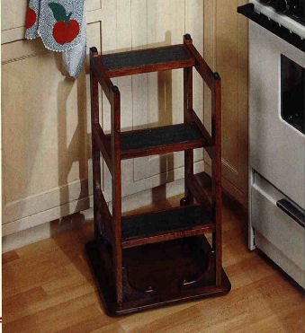 Hoosier Step Stool, Woodworker's Journal, June 2002