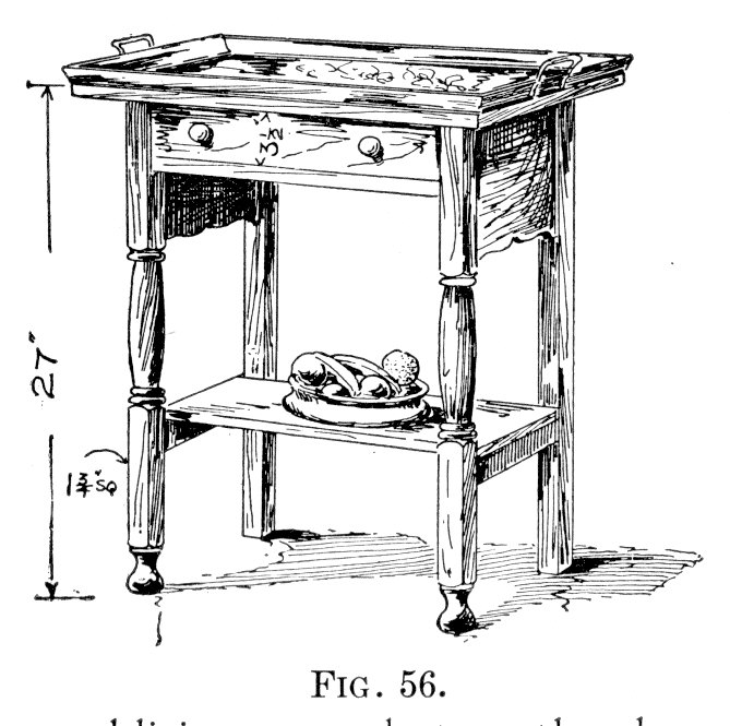 Serving Tray and Stand from Furniture for the Craftsman by Paul Otter