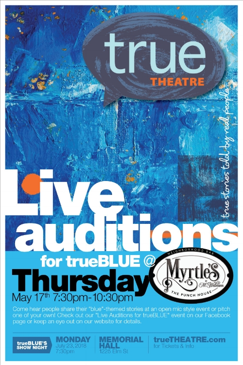 True Blue Audition Poster