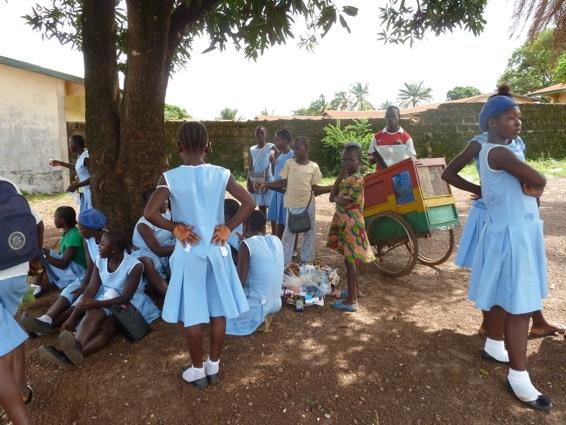 BJMHS BJMHS pupils on their break from classes.
