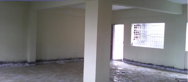 July 2015 - Interior of classroom one, painted and plastered with windows and doors.