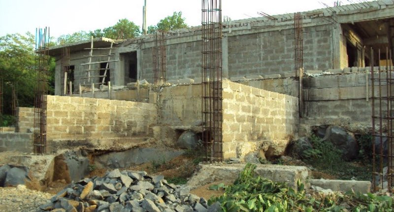 Mar 2015 - Toilets, foundations for classroom 2, and start of undercellar