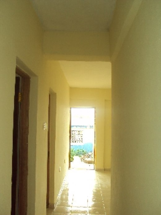 May 2014 - Central corridor to front door of library.