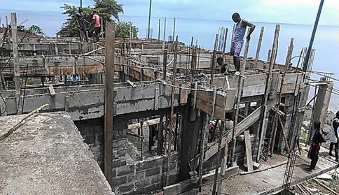 Sep 2015 - Creating the roof beams for the second classroom.