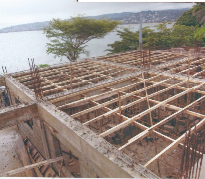 Aug 2014 - Timber framing to support the classroom roof.