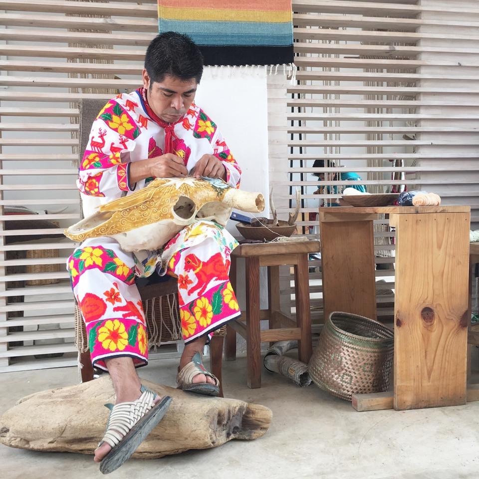Santos yarn painting