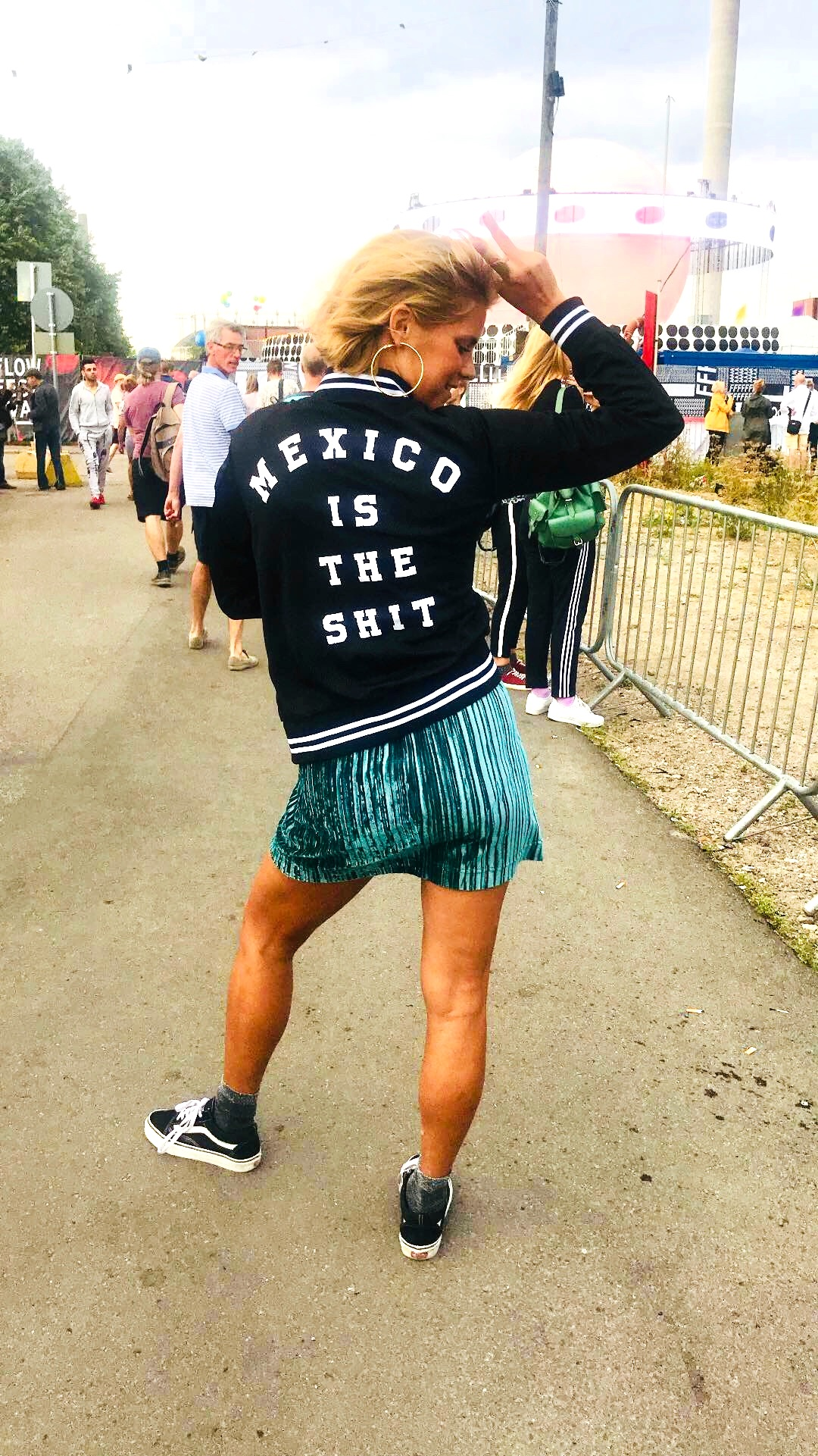 In Finland always loving Mexico. Photo taken at  Flow Festival  last summer.