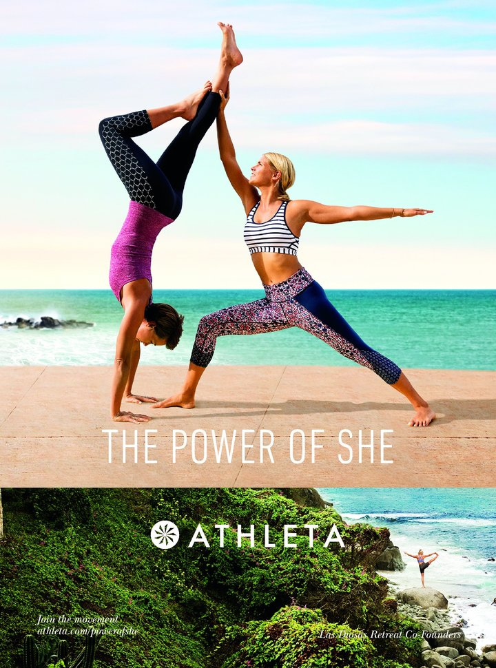 Press and campaign for athleta #PowerofShe by Las Diosas Retreats (former retreat company based in Mexico) -