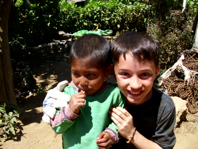 My son Zach and his friend Elias from our first trip to Antigua, Guatemala