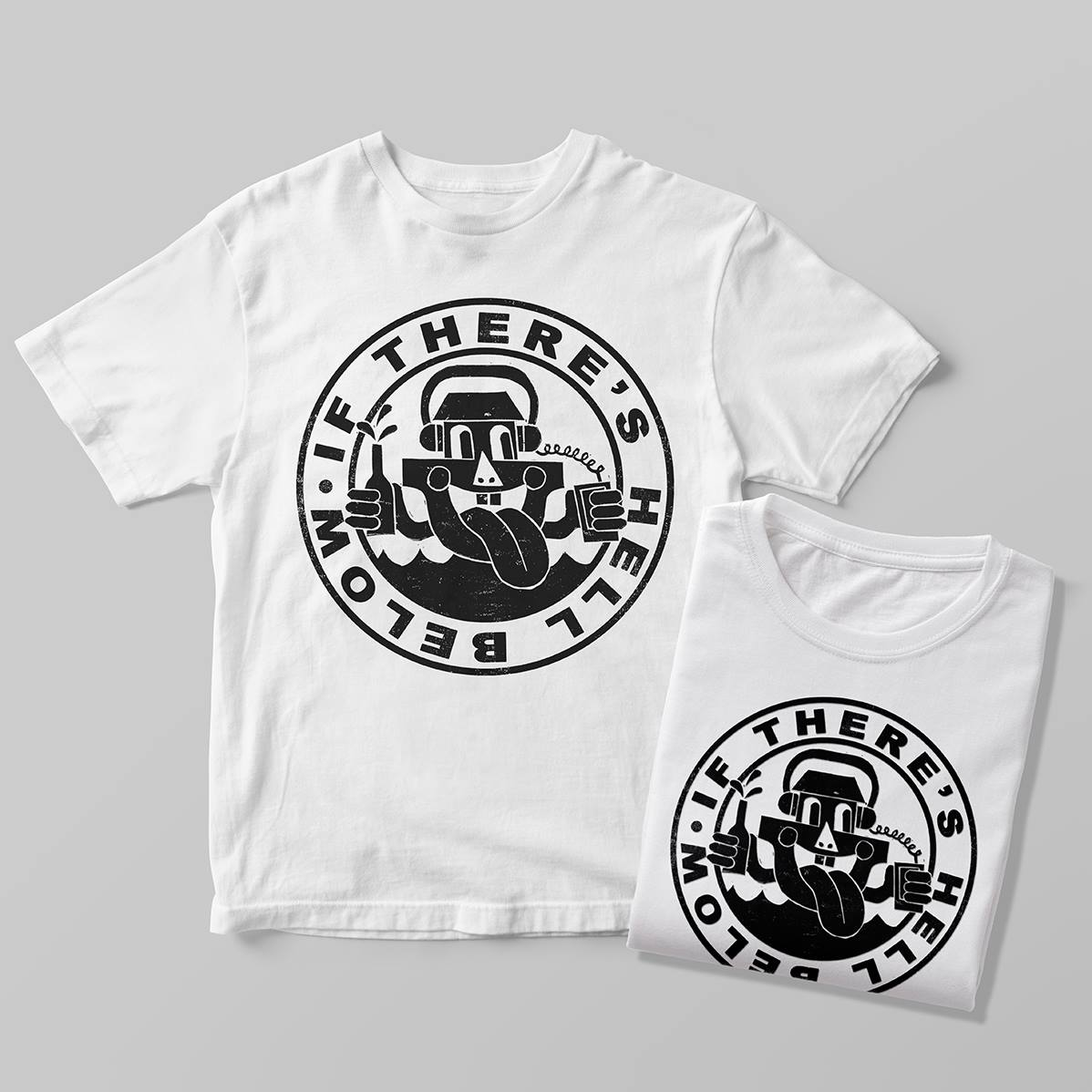Buy Our Tee - If There's Hell Below Arkman Logo Tee: OG 1st PressingOnly 50 made in Classic Crisp White