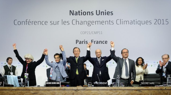 At the conclusion of The Paris Agreement, countries agreed upon resolution towards limiting world temperature to above +1.5°C from pre-industrial level (COP Paris/Flickr)