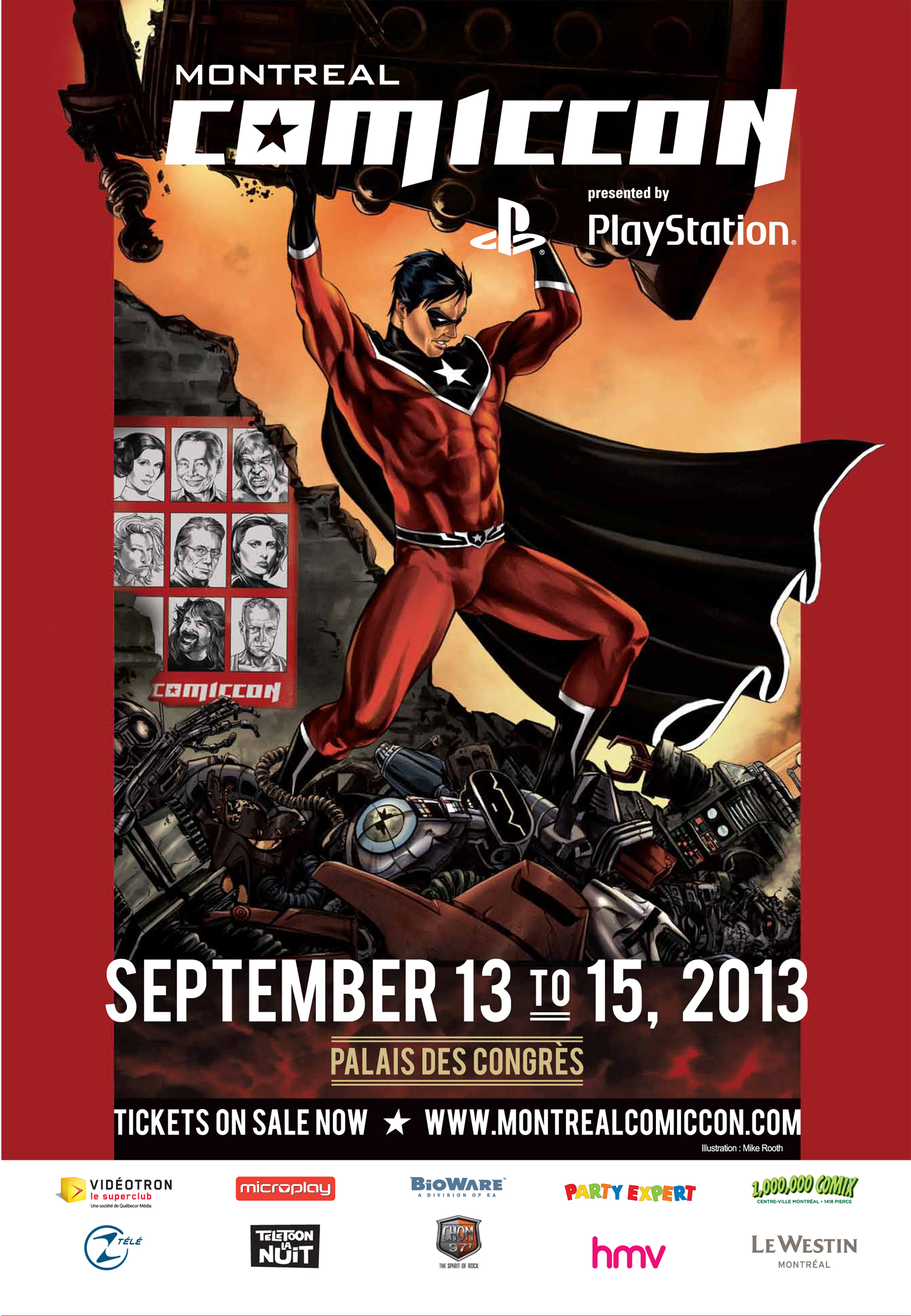 Poster for 2013 Montreal ComicCon
