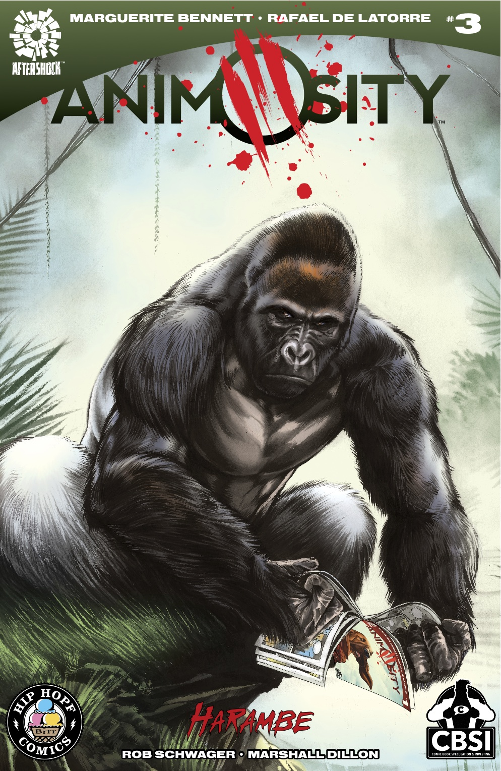 Animosity #3  HARAMBE variant cover, Aftershock Comics