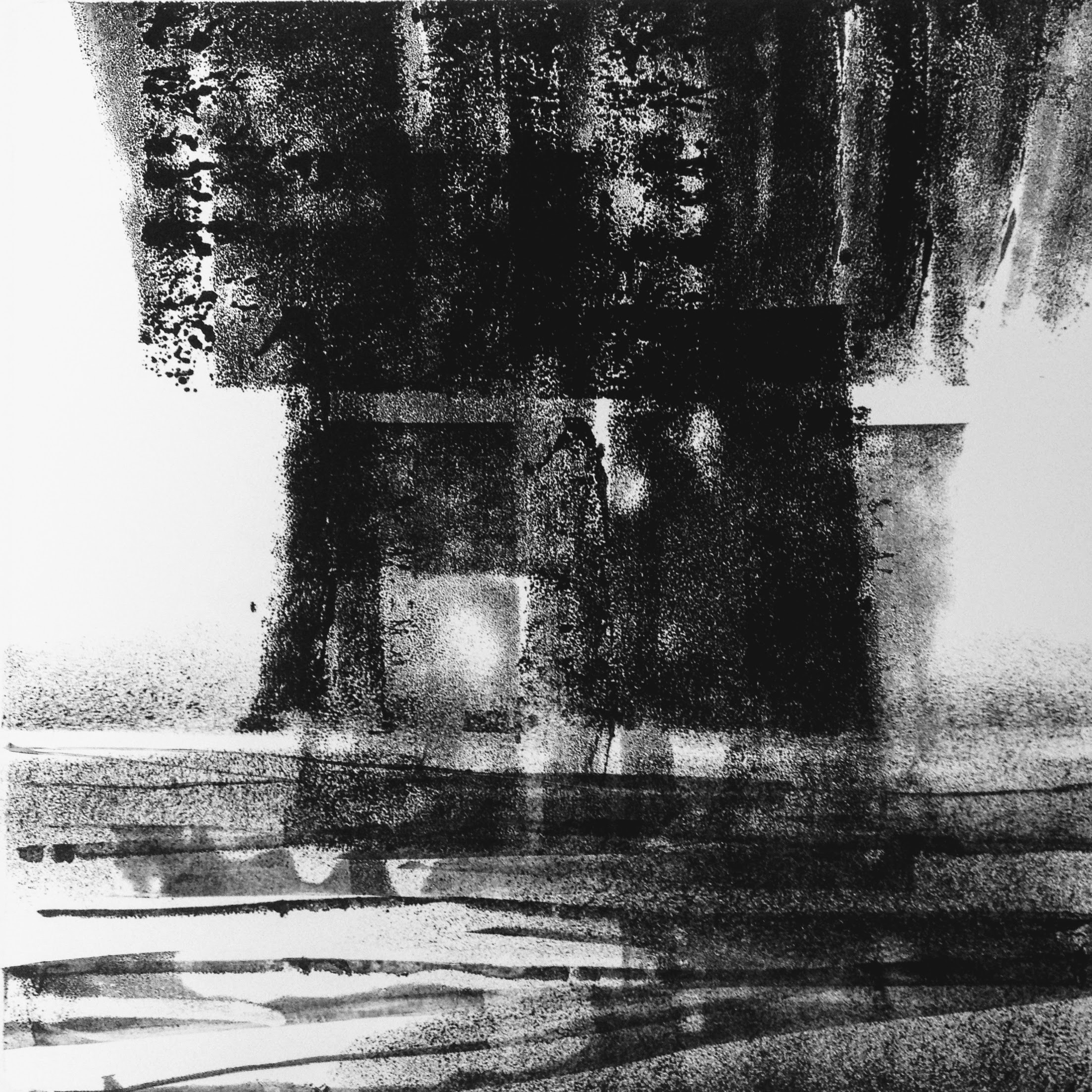 Dark Skies I, monotype, 2017, 300x300mm, 250gm Somerset Satin