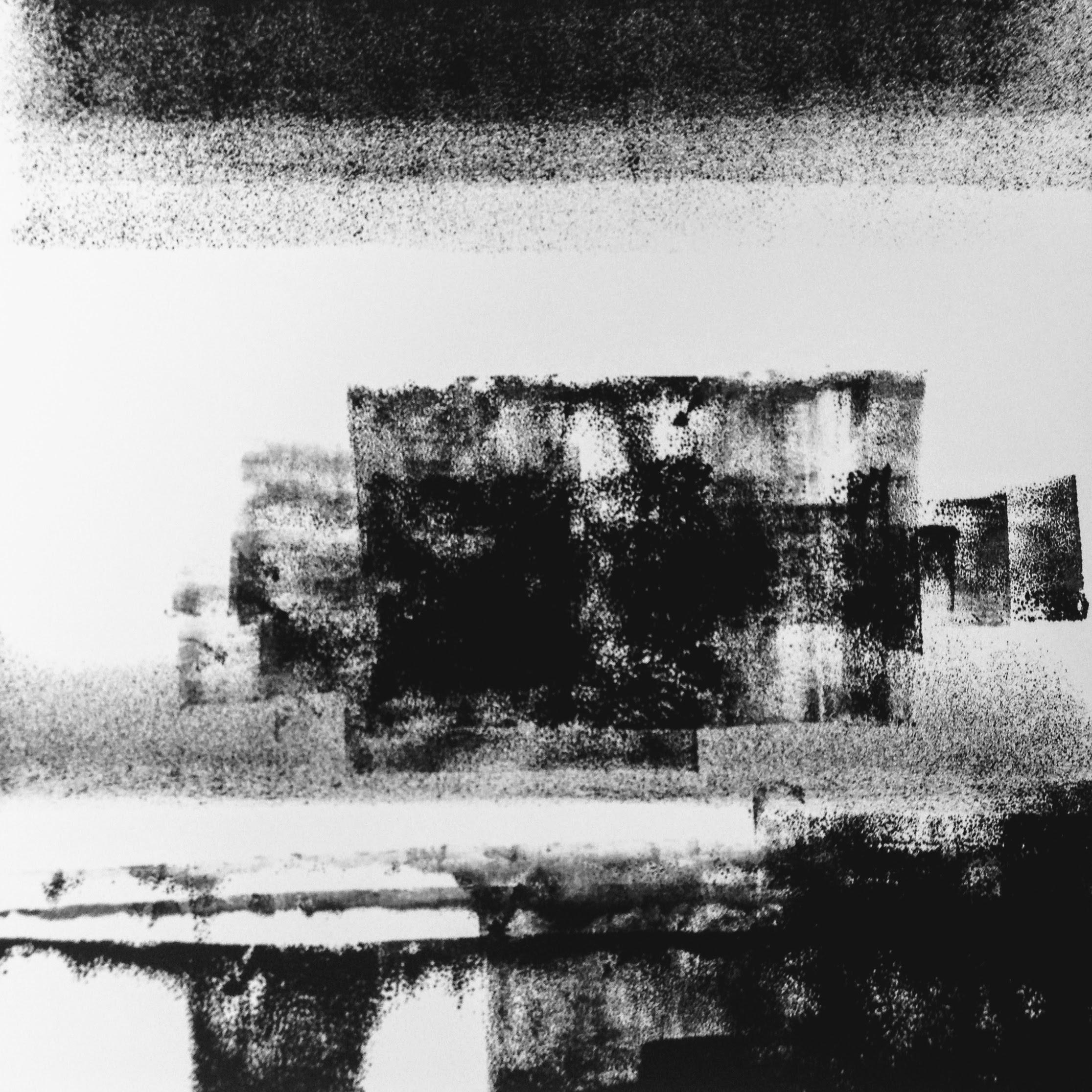 Dark Skies V, monotype, 2017, 300x300mm, 250gm Somerset Satin