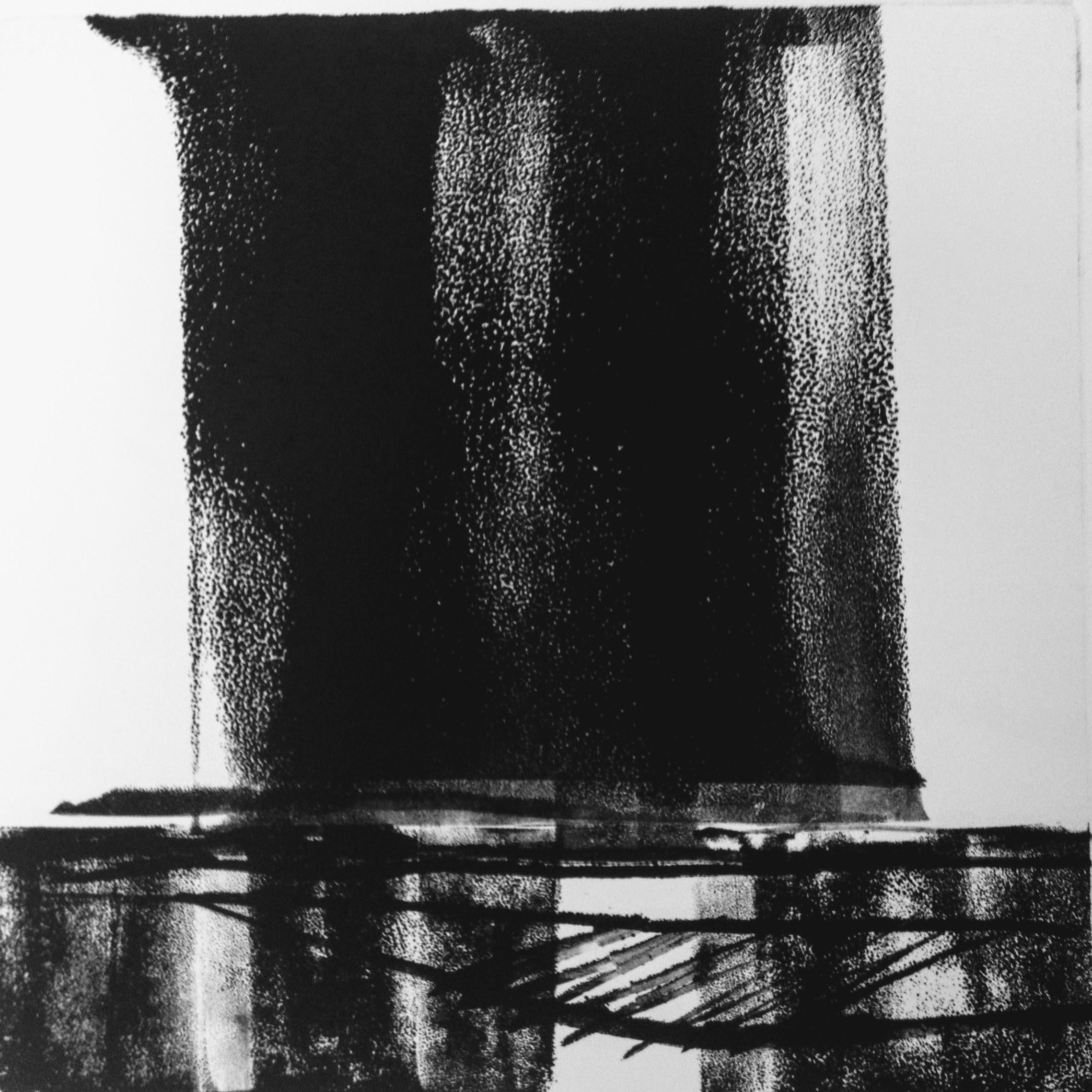 Dark Skies III, monotype, 2017, 300x300mm, 250gm Somerset Satin