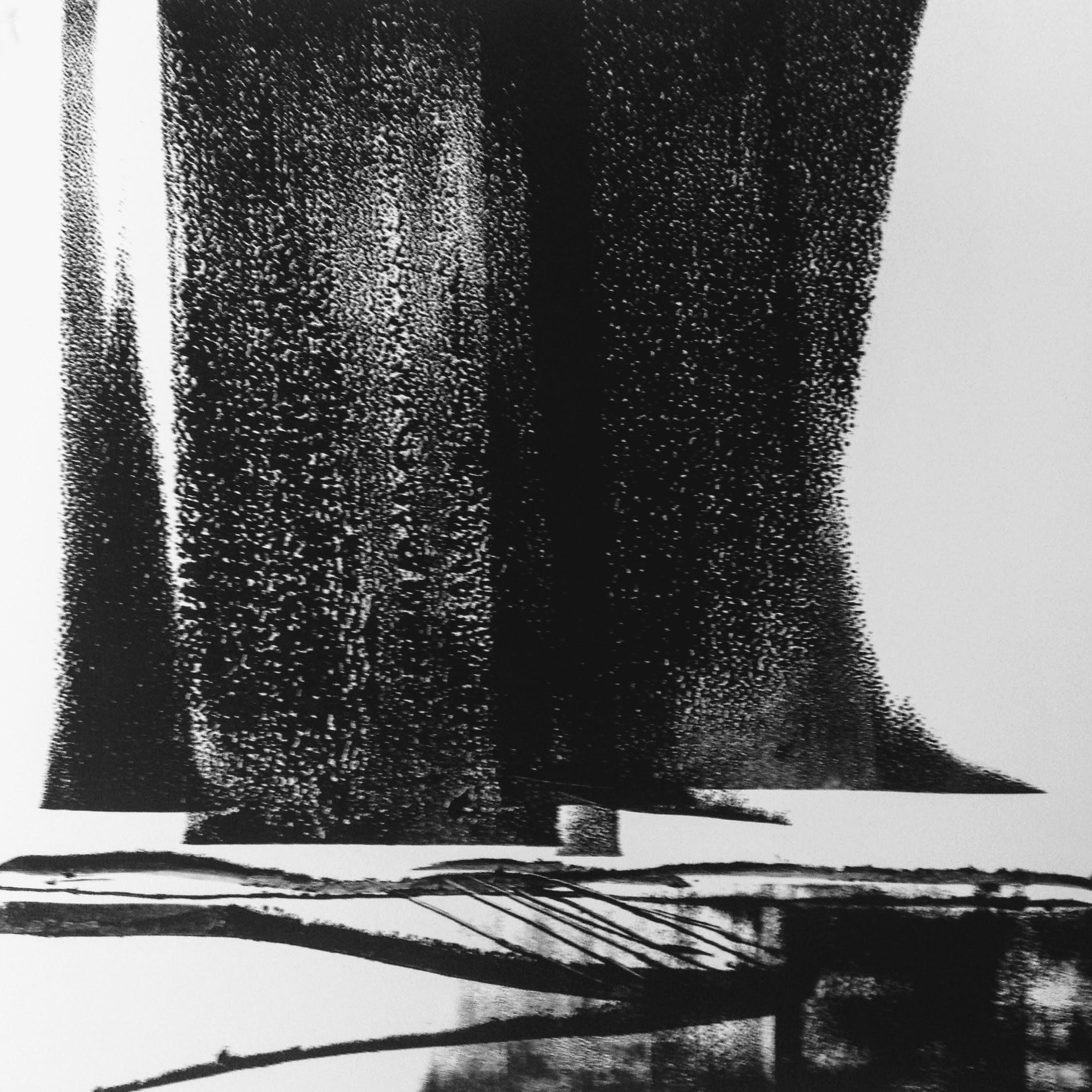 Dark Skies VII, monotype, 2017, 300x300mm, 250gm Somerset Satin