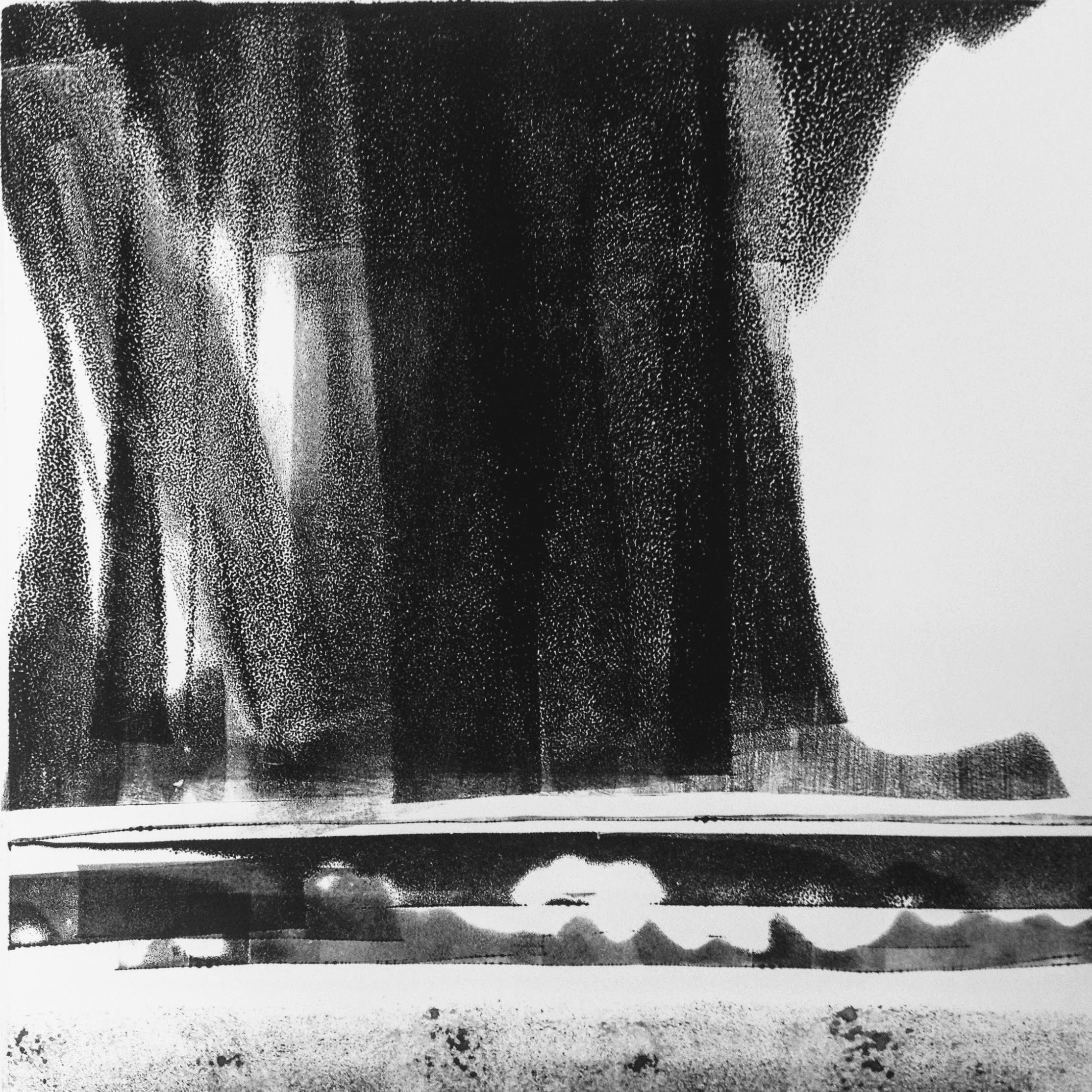 Dark Skies VI, monotype, 2017, 300x300mm, 250gm Somerset Satin