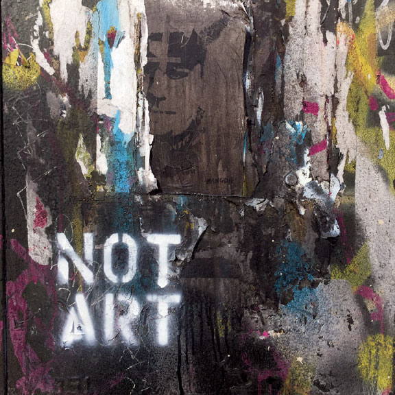 Exhibit E:  NOT ART  in Manhattan.